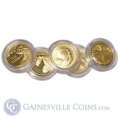 5 Us Mint Gold Commemorative Coins 2418 Oz Of Gold