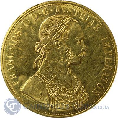 1915 Gold Austrian 4 Ducat (.4438 oz of Gold)