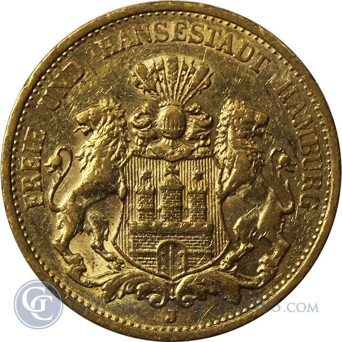 Image Showcase for German 20 Mark Gold Coins - .2304 oz of Gold (1872-1915)