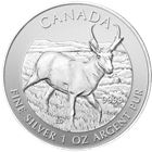 2013 Canada 1 oz Silver Pronghorn Antelope (Wildlife Series) (coins might be spotted or contain milk spots)