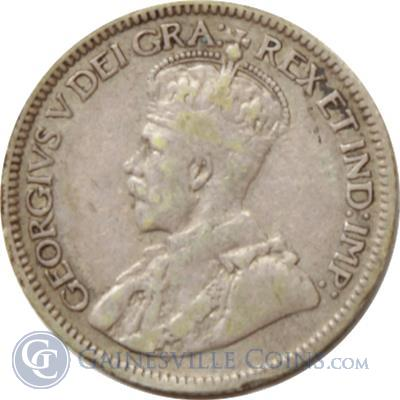George V Canadian Silver 10 Cents Coin Gainesville Coins