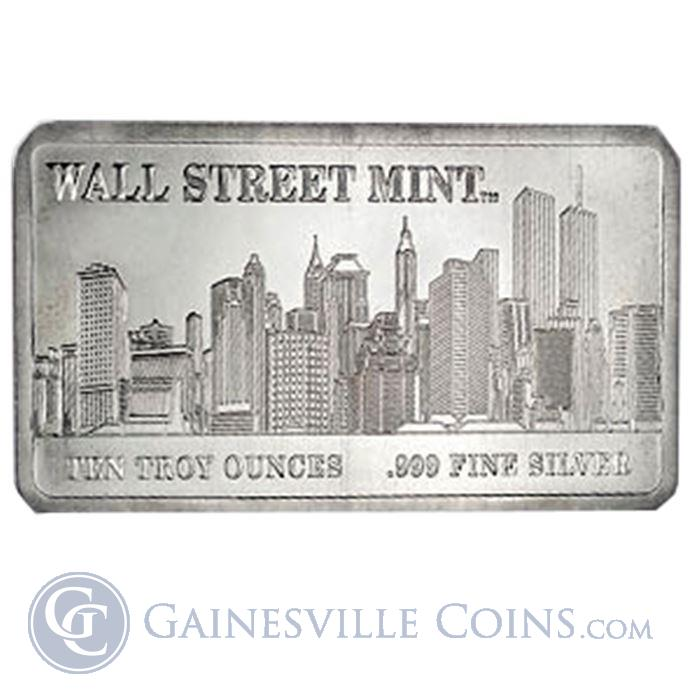 Image Showcase for 10 oz Wall Street Mint Silver Bar .999 Fine