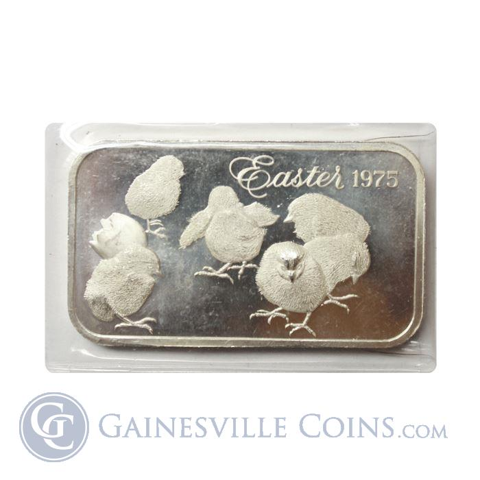 Image Showcase for 1975 Easter 1 oz Silver Art Bar - Madison Mint (.999 Pure)