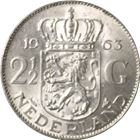 1959-1966 Netherlands 2 1/2 Gulden Silver Coins (.3472 oz of Silver)