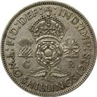 1937-1946 Great Britain 2 Shillings Silver Coin (.18 oz of Silver)