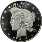 1 oz Silver Round | Peace Dollar Design (.999 Pure)
