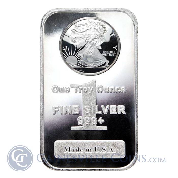 Image Showcase for 1 oz Silver Bar | Walking Liberty Design (.999 Pure)