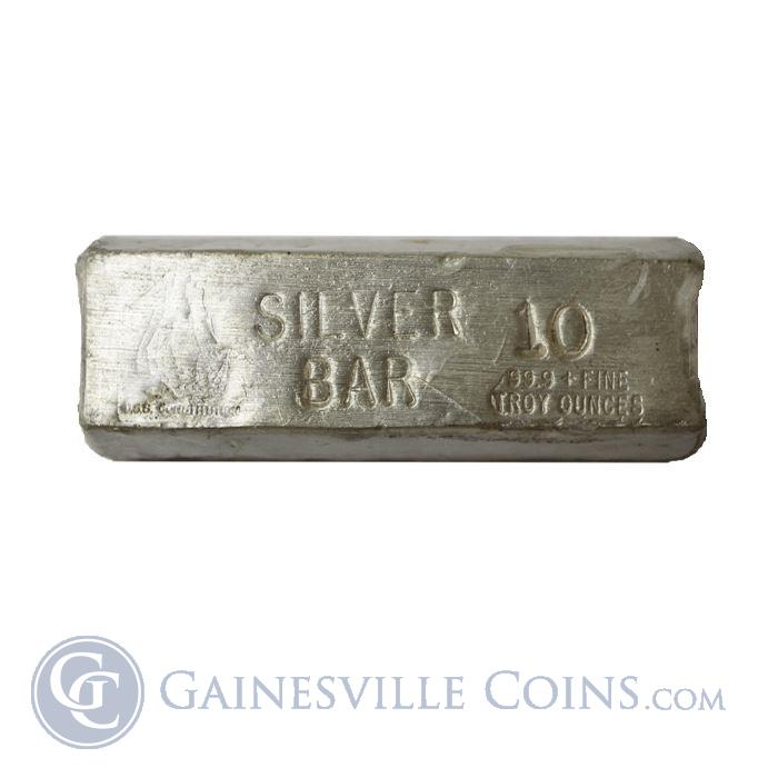 Image Showcase for USS Constitution 10 oz Silver Bar (.999 Pure Silver)