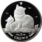 2013 1 oz Proof Silver Siberian Cat Isle of Man (With Box and COA)