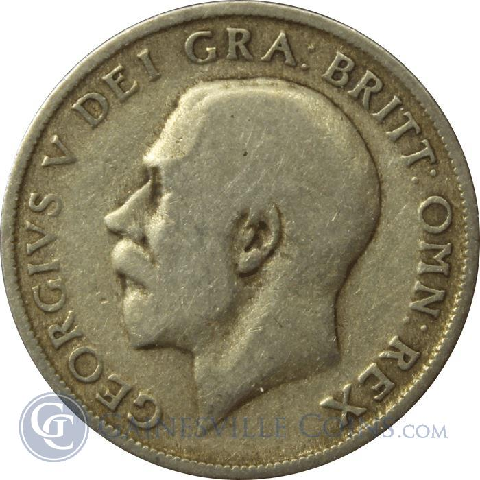 Image Showcase for 1920-1946 Great Britain 1 Shilling Silver Coin (.09 oz of Silver) Random Date