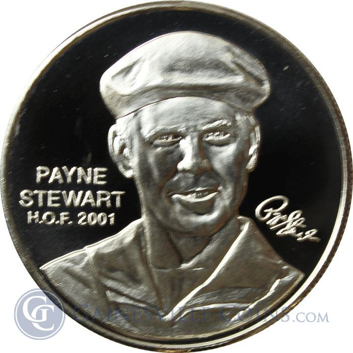 Image Showcase for Payne Stewart PGA Hall of Fame 1 oz Silver Art Round (.999 Pure)