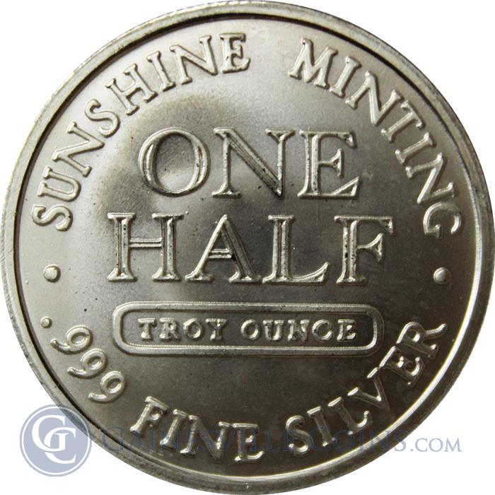 Image Showcase for 1/2 oz Sunshine Minting Silver Round (.999 Pure) (design may vary)