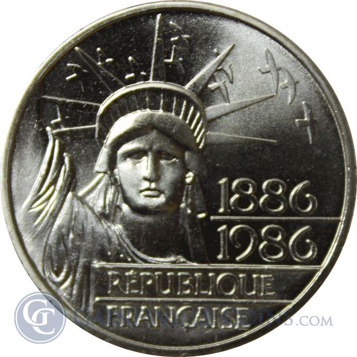 Image Showcase for 1886-1986 France 100 Franc Silver Statue of Liberty (.434 oz of Silver)