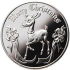 2013 Merry Christmas Reindeer - 1 oz Silver Round (.999 Pure)