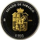 2004 Mexico Bi-Metallic Gold and Silver $100 Peso Coin (With COA)