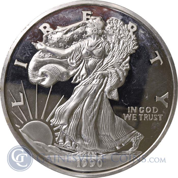 Image Showcase for 1 Troy Pound Proof Silver Eagle Commemorative Round (12 oz ASW) .999 Pure