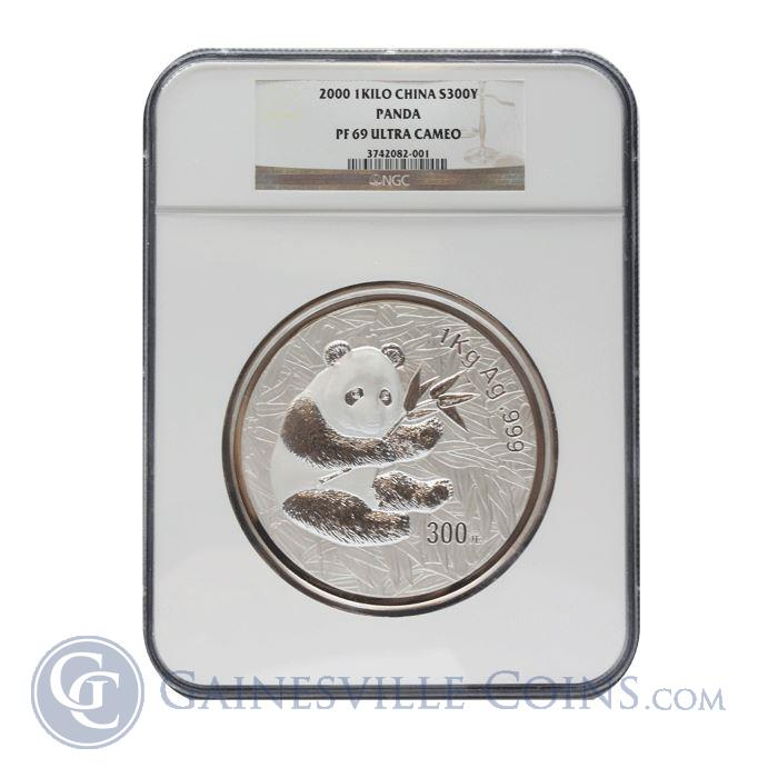 Image Showcase for 2000 300 Yuan Chinese Proof Silver Panda NGC PF69 (32.15 oz ASW)