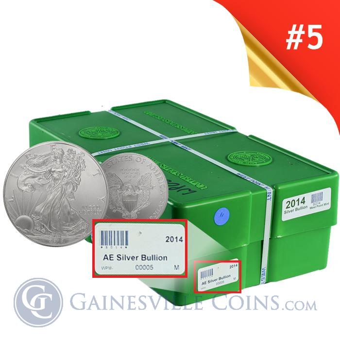 Image Showcase for 2014 American Silver Eagle Monster Box - West Point Mint Designated Box 5