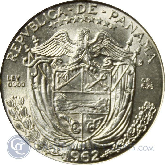 Image Showcase for Panama Silver 1/4 Balboa - (Brilliant Uncirculated) Random Dates