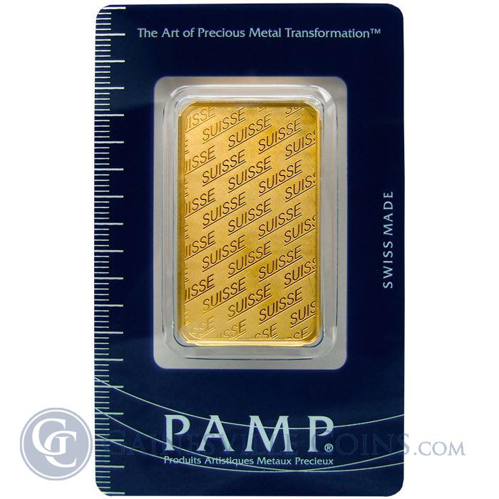 Pamp Suisse 1 Oz Gold Bar 9999 Pure Suisse Design With Assay