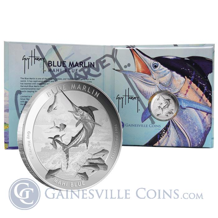 Image Showcase for 2015 Guy Harvey© Proof 1 oz Silver Round - Blue Marlin (Mintage of Only 1500!) .999 Pure