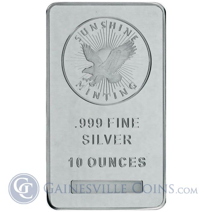 Image Showcase for 10 oz Sunshine Mint Silver Bar