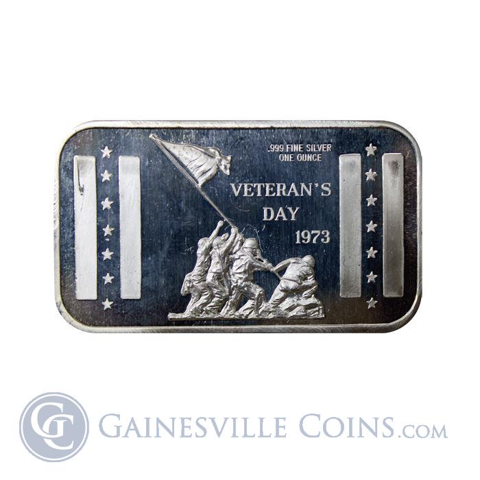 Image Showcase for 1973 Veterans Day 1 oz Silver Bar (.999 Pure)