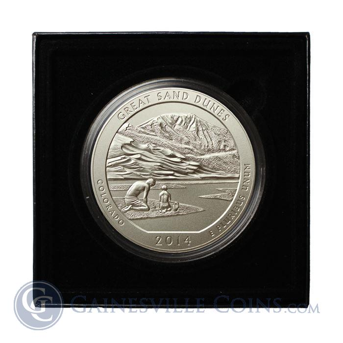 Image Showcase for 2014-P 5 oz Silver America The Beautiful Great Sand Dunes (With Box and COA)