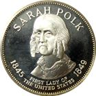 Sarah Polk Proof Sterling Silver Round - First Lady Series (.98 oz of Silver)