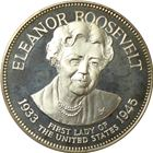 Eleanor Roosevelt Proof Sterling Silver Round - First Lady Series (.98 oz of Silver)