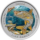 2018 Guy Harvey© Colorized 1 oz Proof Silver Round - Snook Line Dance (Mintage of Only 1,500!)