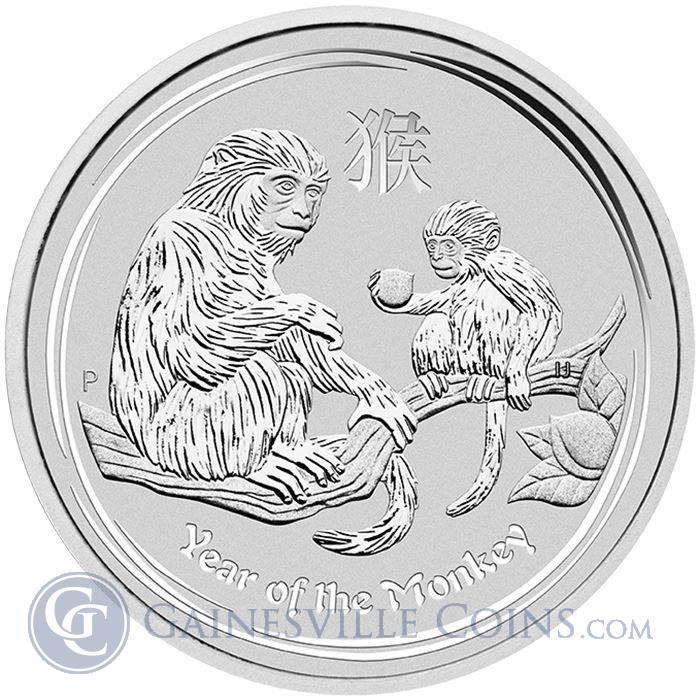 Image Showcase for 2016 Perth Mint 1/2 oz Silver Year of The Monkey