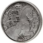 Headless Horseman 2 oz Ultra High Relief Silver Round - With Antique Finish