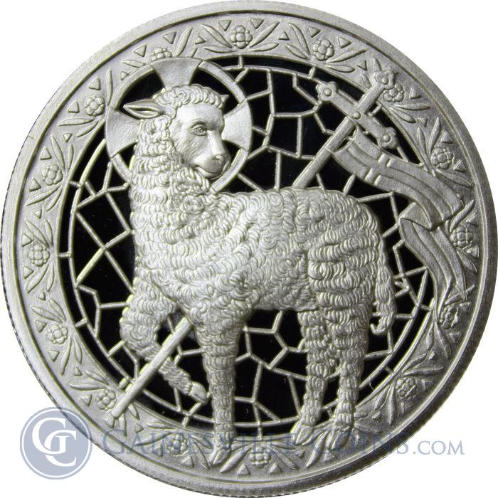 Image Showcase for Lamb of God 1 oz Silver Round (.999 Pure)