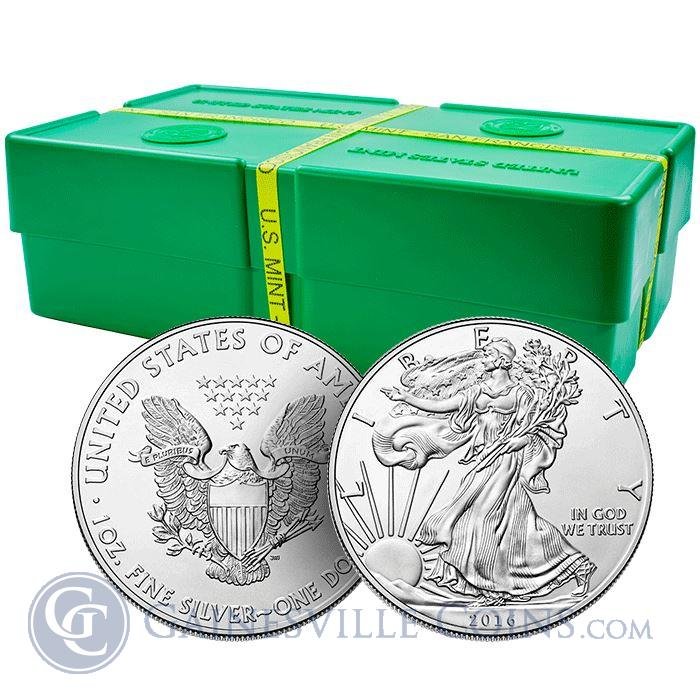 Image Showcase for 2016 Silver American Eagle Monster Box of 500 Coins - BU