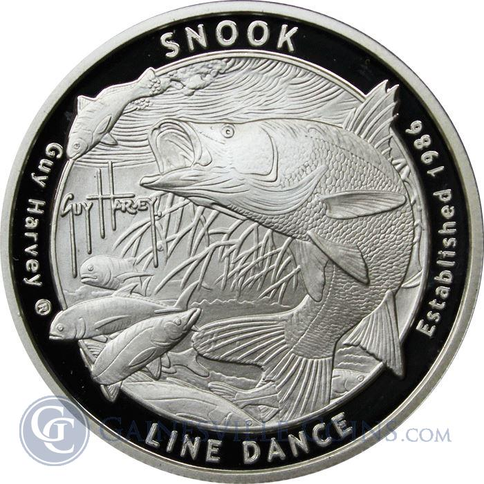 Image Showcase for 2016 Guy Harvey© 1 oz Silver Proof Like Round - Snook