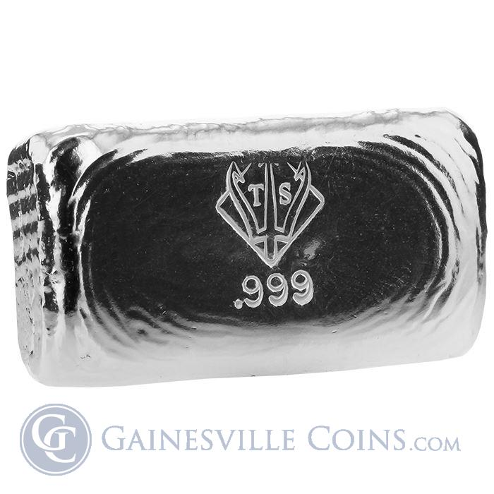 Image Showcase for 1 oz Poured Silver Bar- Trident Silver (.999 Pure)
