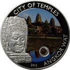 2015 City Of Temples Angkor Wat $5 Cook Islands Silver Coin