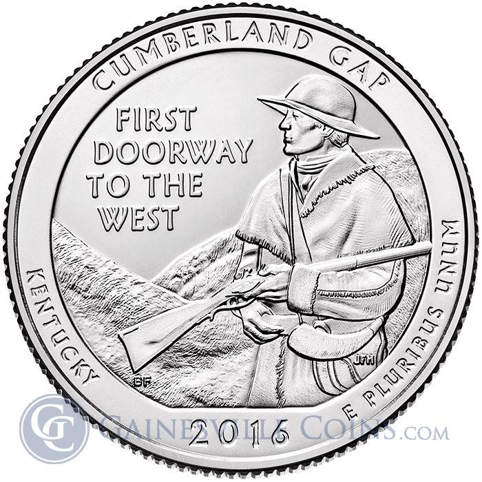 Image Showcase for 2016 5 oz Silver ATB Cumberland Gap Historical Park