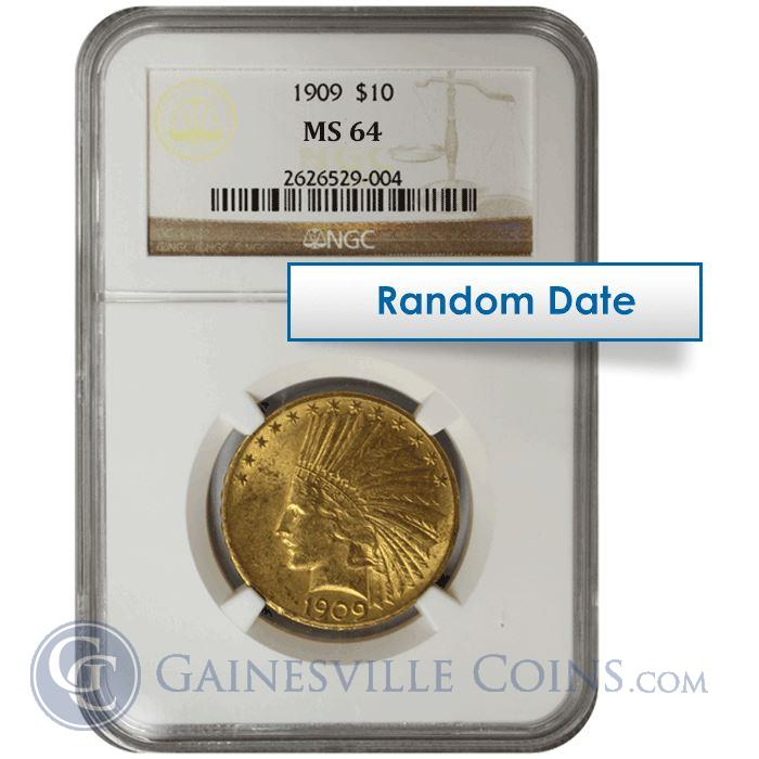 Image Showcase for $10 Indian Gold NGC/PCGS MS64 - Random Date