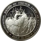 Washington Joined By French Army At Newport Proof Sterling Silver Round