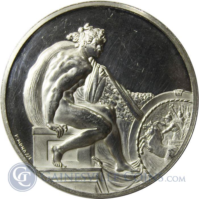 Image Showcase for Ignudo Face Of An Angel Body Of An Athlete Proof Sterling Silver Round (1.17 oz ASW)
