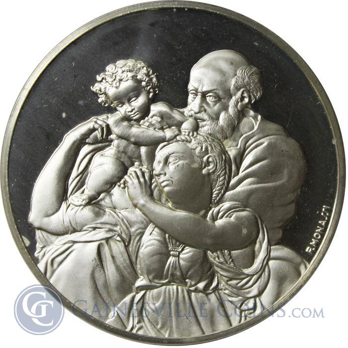 Image Showcase for The Doni Tondo Proof Sterling Silver Round (1.15 oz ASW)