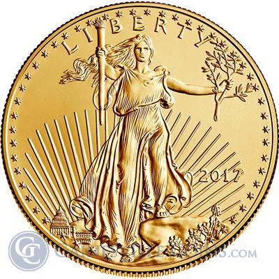 2017 1 oz American Gold Eagle Coin (Brilliant Uncirculated)
