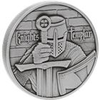 Knights Templar 2 oz Ultra High Relief Silver Round - With Antique Finish