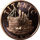 Titanic Copper Round - 1 AVDP Ounce (.999 Pure)