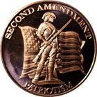 Second Amendment Patriotism Copper Round - 1 AVDP Ounce (.999 Pure)