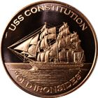 USS Constitution Old Ironsides Copper Round - 1 AVDP Ounce (.999 Pure)
