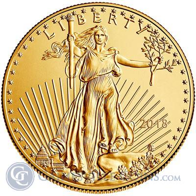 2018 1 oz American Gold Eagle Coin (Brilliant Uncirculated)