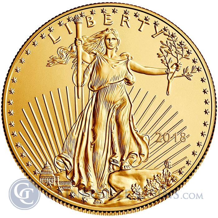 Image Showcase for 2018 1/4 oz American Gold Eagle Coin - BU